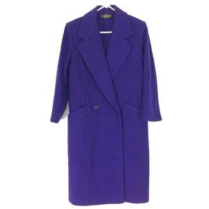 London Fog   Vintage Purple Wool Long Coat